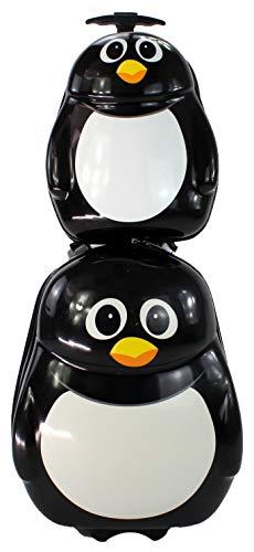 Maleta de Viaje Infantil para Cabina rigida con Mochila Estampado de niños (Pinguino)
