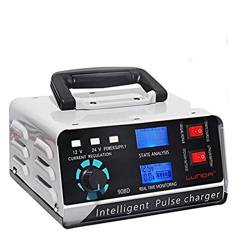 WENYOG Arrancador De Coches 12V 24V 400A automático Lleno de la batería de Coche Cargador de la energía del Pulso reparación Cargadores Secos y mojados Cargadores de baterías (Color : 1)