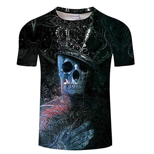 T Shirt 3D T Shirt Hommes Crâne T-Shirt Tshirt Tees D'été Drôle Tops Survêtement À Manches Courtes Mâle Asiatiquexl Tx547