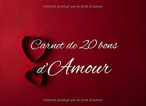 Carnet de 20 bons d'Amour: v1-8 | 20 coupons en couleur à remplir | meilleur idée de cadeau à...