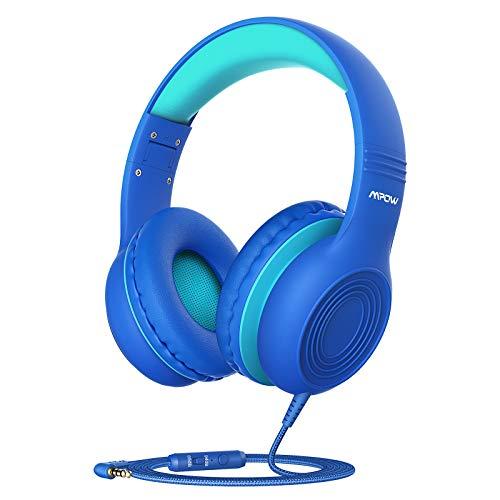 Mpow CH6S Casque Audio Enfant, Microphone Intégré, 85/94dB de Limitation du Volume, Function de Partager, Pliable, Ajustable, Câble en Nylon sans Enchevêtremen