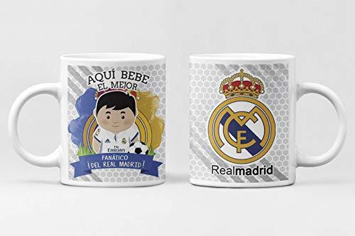 Desconocido Taza Aqui Bebe el Mejor fanático del Real Madrid. Taza de cerámica fútbol