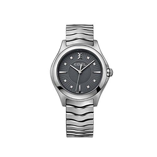 Ebel Damen Datum klassisch Quarz Uhr mit Edelstahl Armband 1216307