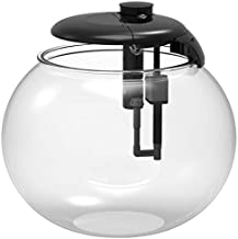 Penn-Plax AquaSphere 360 Large Bowl-Shaped Aquarium for Freshwater and Saltwater Setups – Fully Integrated Filtration System and LED Light Display - Durable Polycarbonate – 24 Gallons