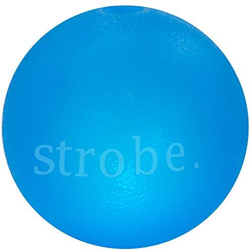 Planet Dog Orbee-Tuff Strobe - Hundespielzeug mit LED - robuster Leucht-Ball - Blau - 7,5 cm