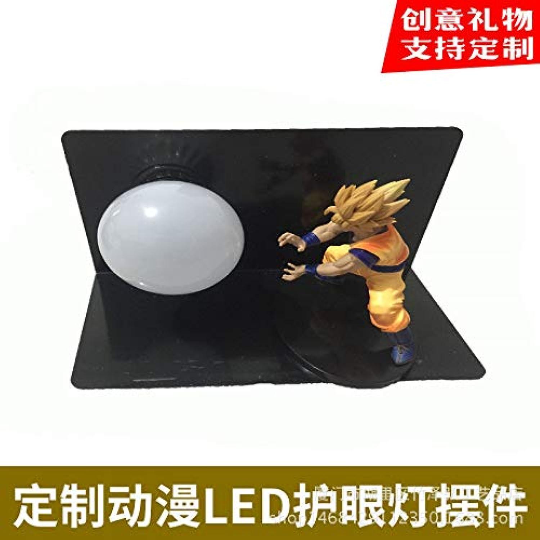 CXQ Dragon Ball Sun Wukong handgefertigte kreative tischlampe led schreibtischlampe auge lampe leuchtende spielzeug kreative beleuchtung, Dragon Ball Qigong bombe 16