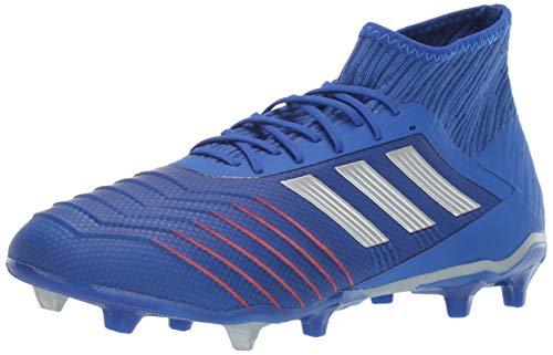 adidas Performance Men's Predator 19.2 Firm Ground Athletic Shoe, Bold Blue/Silver Metallic/Football Blue, 8 M US