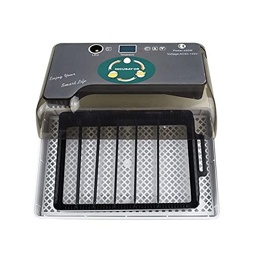 GIVROLDZ AutomáTica Hatcher para, Incubadora Digital AutomáTica De 12 Huevos, Control Inteligente Preciso Temperatura Humedad,Gris,32.5 * 21 * 12CM/110V