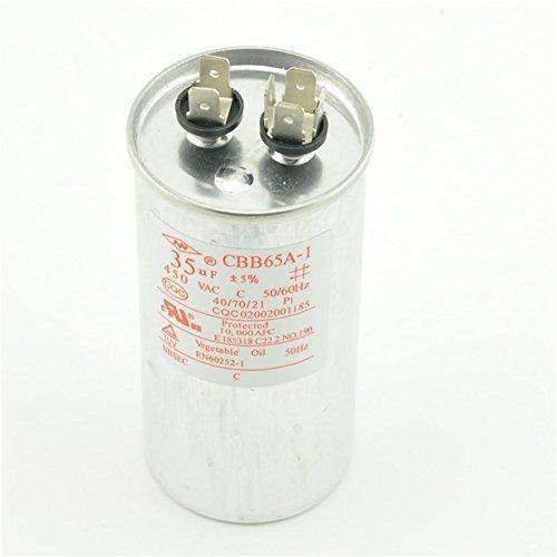 Capacitor AC 450V 35uF 50/60Hz Air Conditioner Motor Run CBB65A-1 CBB65