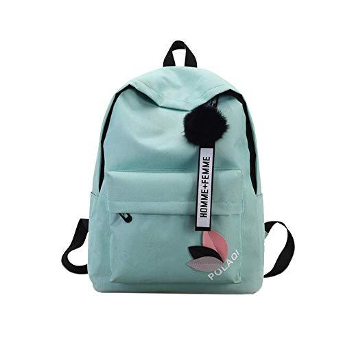 MKeDa Einfarbig wasserdicht dayback einfache diebstahlsichere leuchtende rucksack damen casual rucksack multifunktionale travellite schulrucksack (blau), blau