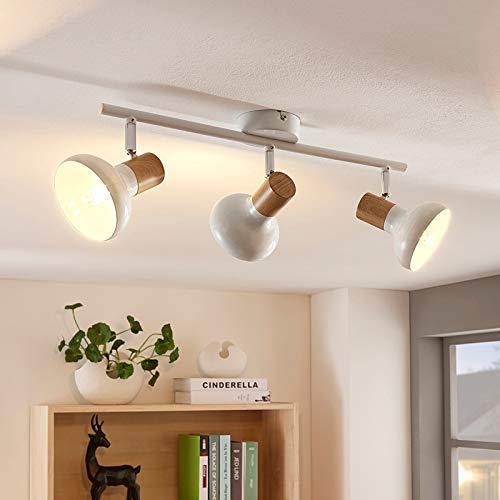 Lindby Strahler 'Fridolin' dimmbar (Modern) in Weiß aus Metall u.a. für Küche (3 flammig, E14, A++) - Deckenlampe, Deckenleuchte, Lampe, Spot, Küchenleuchte