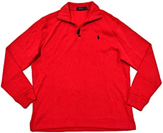 Polo Ralph Lauren French Ribbed 1/4 Zip Mock Neck Sweater...