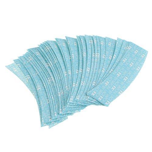 Baoblaze 36pcs Bleu ruban adhesif à double face Antiallergique - de Salon de beaute - Extra-fort pour Perruque Extensions de cheveux - 8,3x2 cm / 3,27x0,79 pouces