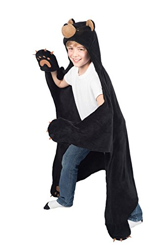 Cinder Black Bear Wearable Hooded Blanket by Wild Things