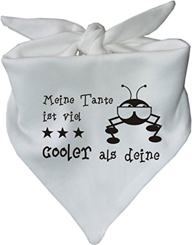 KLEINER FRATZ KLEINER FRATZ Baby Halstuch Meine Tante ist viel cooler als deine/AUNTI/Fb. Weiss