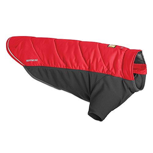 Ruffwear 0570-615L1 - Giacca isolata per cani con rivestimento in pile, resistente al vento e all'acqua, taglia XL, rosso ribes