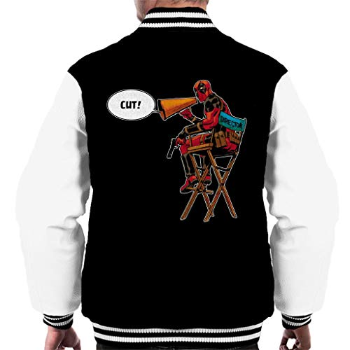 Marvel Deadpool Director Shouting Cut Men's Varsity Jacket
