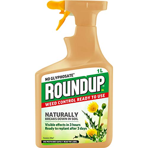Roundup Naturals Glyphosate-Free Powerful Weed Killer - 1 Litre