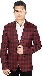 La Rainbow Mens Tweed Red blazer Special For Wedding/Party wear