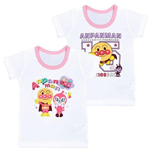 アスナロ(肌着・下着) アンパンマン ドキンちゃん 半袖シャツ ベビー 女の子 2枚組 柄違い90 ピンク