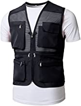 H2H Mens Active Work Utility Mesh Camping Vest of Multiple Pockets Navy US M/Asia XL (KMOV0150)