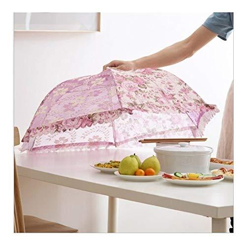 Fácil de almacenar Carpa plegable de cocina cubrir la comida paraguas campo al aire libre de la torta de la cubierta del acoplamiento del cordón sanitario cuadrícula cubra los alimentos del plato uten