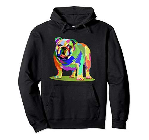 Neon Bulldog Dog Lover Hoodie