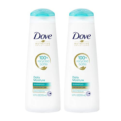 Dove Nutritive Solutions Moisturizing Shampoo for Normal to Dry Hair Daily Moisture Formulated with Pro-Moisture Complex for Manageable and Silky Hair 12 oz, Pack of 2