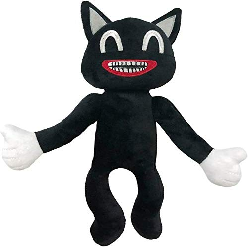 ZMMA Siren Head Plush Toy, Cartoon Cat Plush Toy,Cartoon Sirenhead Stuffed, Animals Doll Horrors, Halloween Decorations for Children (Black cat)