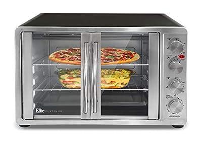 Maxi-Matic Double Door Toaster Oven Rotisserie, Bake, Grill, Broil, Roast, Toast, Keep Warm, 23L Capacity, ETO-4510M