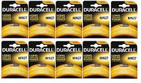 10 Packungen Duracell Security Alkaline Batterie 12V Diebstahlsicherung MN27x10