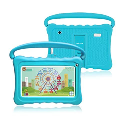Kinder Tablet,7 Zoll Kinder Tablet Pad Lerntablet für Kids,1GB + 16GB, Android 8.1 OS,Screen Augenschutz,WiFi,Bluetooth & Google Play, Dual-Kamera mit Kindersicherungsmodus Silikon Hülle Tablet