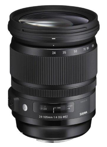 Sigma 635955 Obiettivo, 24-105mm-F/4.0 -AF DG OS, HSM, Attacco Nikon, Nero