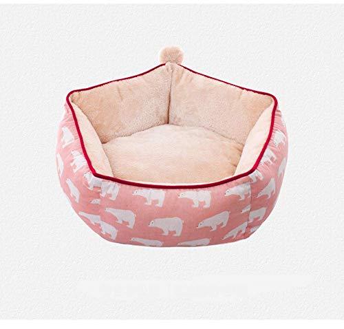 Cama for perros Mantener Caliente perro o gato Cama Salón sofá cubierta extraíble 100% Ante memoria colchón Fácil mantenimiento de la máquina de lavado perro de peluche cama (Color: azul, tamaño: L) Z