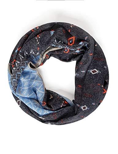 Cecil Damen 571278 Loop im Ethno-Print Mode-Schal, Carbon Grey, One Size