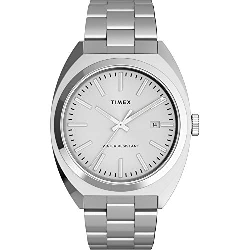 Timex Men's Milano XL 38mm Watch – Silver-Tone with Stainless Steel Bracelet