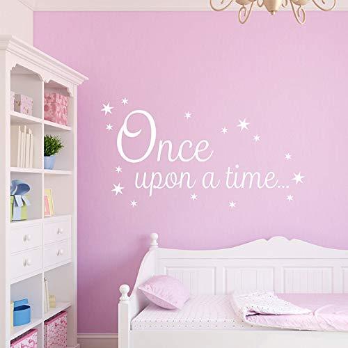 Érase una vez Pequeñas estrellas Pegatinas de pared desmontables para las niñas dormitorio Decoración de vinilo dulce Vinilo Wallpaper Tatuajes 57X31cm