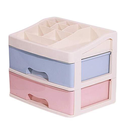 BOX Stockage Cosmétique Ox Plastique Type de Tiroirs Soins de Bureau Rouge À Lèvres Bijoux de Peau de Stockage D'Affichage 34,5 × Ox 24.5 × 27.5Cm,B
