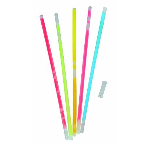 T.I.P. Lot de 100 bâtons lumineux à craquer en 5 couleurs pour bracelets 200 mm avec connecteur