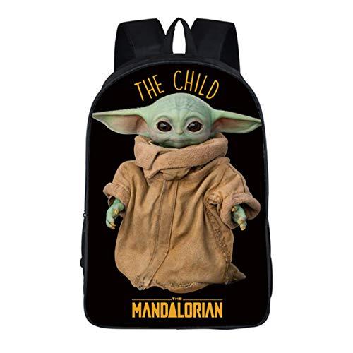 Jiamins Advanced Rucksack, Unisex, für Jugendliche und Erwachsene, Schulrucksack, Studenten, Laptop-Tasche, 40,6 cm (16 Zoll), Herren, Baby Yoda-5