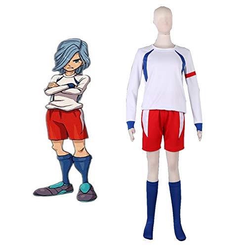 GGOODD Anime Inazuma Eleven Queen's Cavaliers - Disfraz de equipo nacional britnico para cosplay, fiesta de Halloween, ropa diaria para hombre, camiseta de ftbol, color blanco, XL