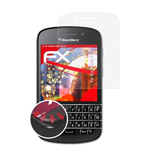 atFolix Schutzfolie kompatibel mit BlackBerry Q10 Folie, entspiegelnde & Flexible FX Bildschirmschutzfolie (3X)