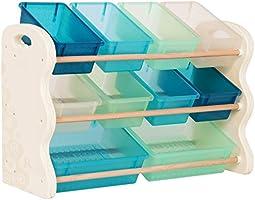 B. spaces – barnhylla med förvaringslådor leksaksförvaring barnkammare av trä med 10 förvaringslådor förvaringsbox – bokh...