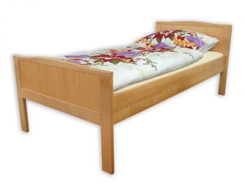 Erst-Holz® Seniorenbett extra hoch Einzelbett 90x200 Buche-Bettgestell Natur ohne Rollrost 60.70-09 oR