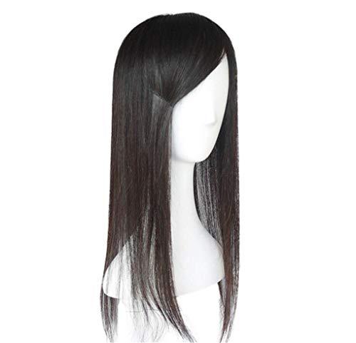 Sexy Lady Full Wig Topper, Pince à Cheveux à Base de Soie 4,7 'x 5,5', châtaigne 20 '