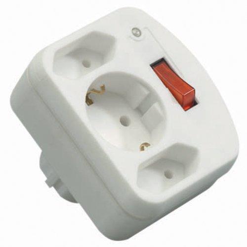 REV Ritter 00135501 ÜSS Adapter mit Schalter 2+1, weiß