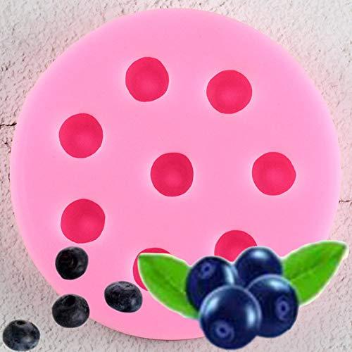 FGHHT Blaubeer Himbeere Erdbeer Silikon Formen Schokolade DIY Cupcake Topper Fondant Kuchen Dekorationswerkzeuge Candy Fimo Ton Formen