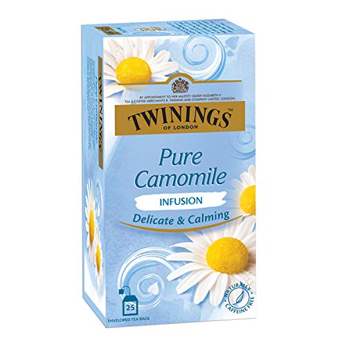 Twinings Pure Camomile Tea, 25 Teabags, Herbal Infusion Tea,...