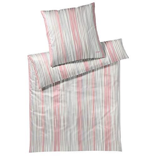 Joop! Juego de cama de satén., 100 % algodón, coral, 1 Bettbezug 140 x 200 cm + 1 Kissenbezug 70 x 90
