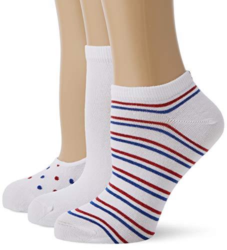 Tommy Hilfiger Damen Th Women Vanity Pack 3p Füßlinge, Weiß (White/Blue/Red 105), 39/42 (Herstellergröße: 039) (3er